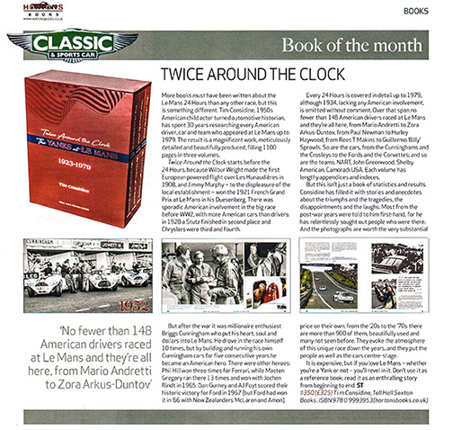 Book of the Month Classic & Sports Car
